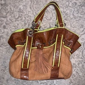 Francesco Biasia Italy 1977 Brown & Green Bag